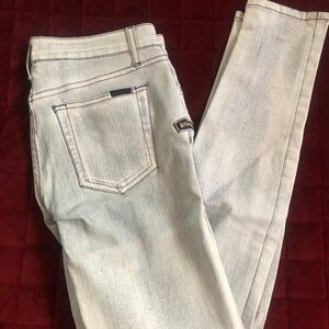 Joe's skinny coated jeans size 28